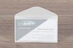 Конверт из белой кальки для визитки