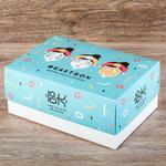 Коробка из картона с глянцевой ламинацией для набора косметики