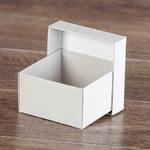 Коробка крышка-дно 70х70х40 мм из макулатурного картона