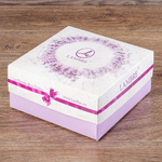 Коробка Ламбре для косметики квадратная