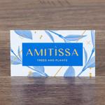 Визитка AMITISSA меловка 300 г/м2
