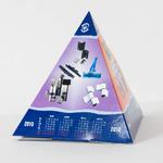 Пирамидка с глянцевой ламинацией самосборная