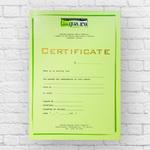 Сертификат английских курсов
