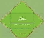 конверт полосы зеленый