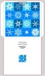 синий голубой снежинки