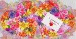 Сердце двойное маленькое Цветочная поляна
