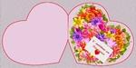 Сердце двойное маленькое Цветочная поляна 2