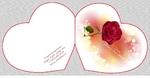 (К-56) Сердце двойное большое Роза