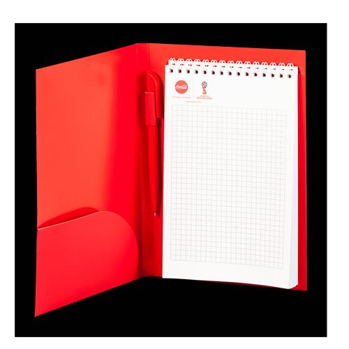 папка-блокнот с ручкой а5