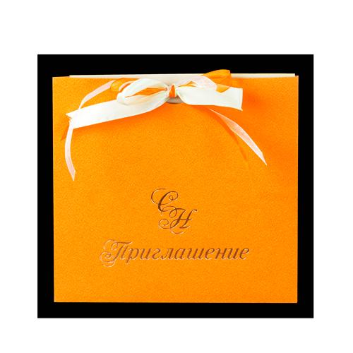 квадратный конверт с лентой 16х16