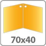 35х40 мм , в развороте 70х40 мм, артикул B-196
