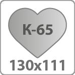 Валентинка 130х111 мм, арт. К-65