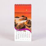 Настольный перекидной календарь 7х15 см