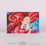 Почтовая карточка с платками Теплый ветер