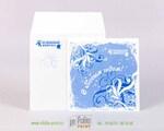 Открытка с Новым годом с конвертом из дизайнерской бумаги
