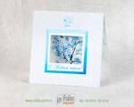 Квадратная открытка в два сложения с окошком