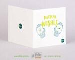 Квадратная открытка 15х15 из дизайнерской бумаги