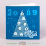 квадратная новогодняя открытка
