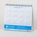 Годовая сетка голубая - настольный деловой календарь