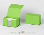 Жесткая коробка для хранения визитных карточек с магнитным замком