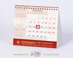 настольный деловый календарь с бегунком бежевый