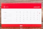 Календарная сетка настольного перекидного календаря