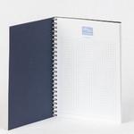Блокнот с обложкой из дизайнерской бумаги с печатью серебром