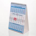 Блок голубой настольный кварталдьный календарь