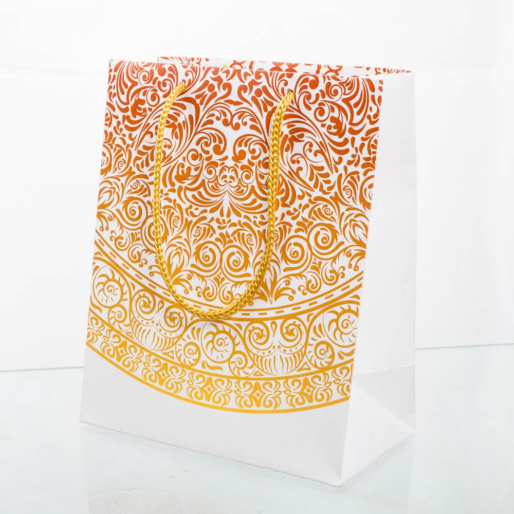 Пакет из белого крафта 150х185х85