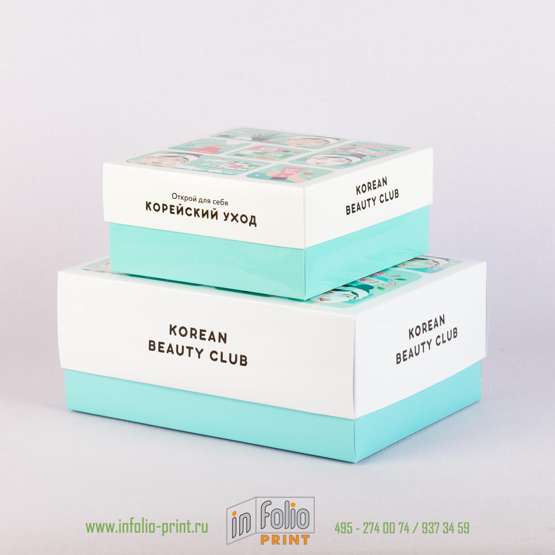 Набор из двух коробок крышка-дно для косметики