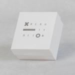 Коробочка крышка-дно из ламинированного картона с серебрянным тиснением