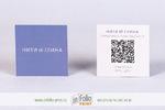 квадратная визитка с QR кодом