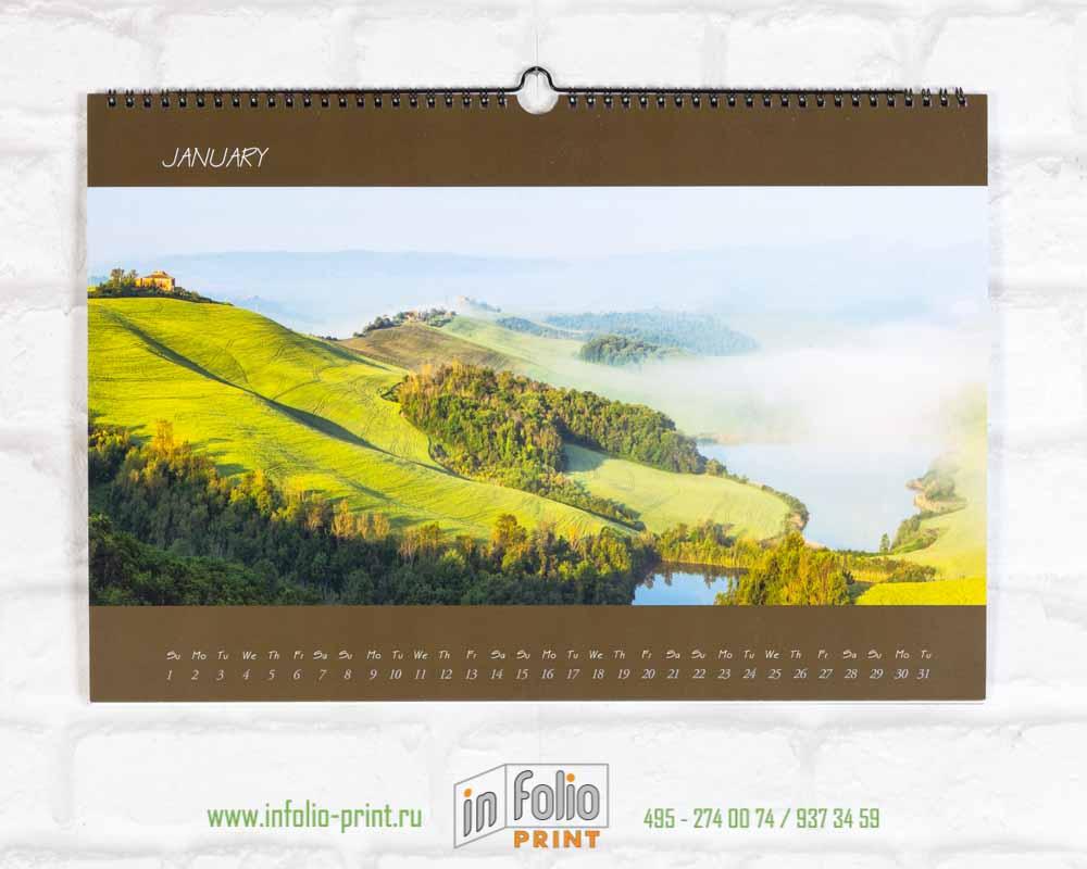 Настенный перекидной календарь А3 Тоскана