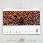 Настенный перекидной календарь А3 с фото компании