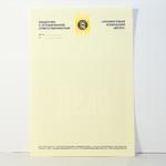 Бланк на тонированной бумаге цвета слоновая кость