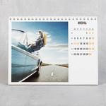 настольный перекидной календарь А5 с квадратной фотографией