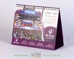 Настольный перекидной календарь с двухсторонней печать. подставки