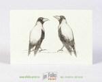 Авторская открытка А6 из дизайнерской бумаги