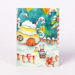 Почтовая карточка счастливого рождества