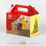 Коробка с логотипом для корпоративных новогодних подарков