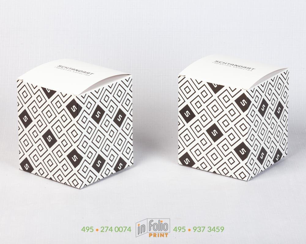 коробка с квадратным дном 100х100