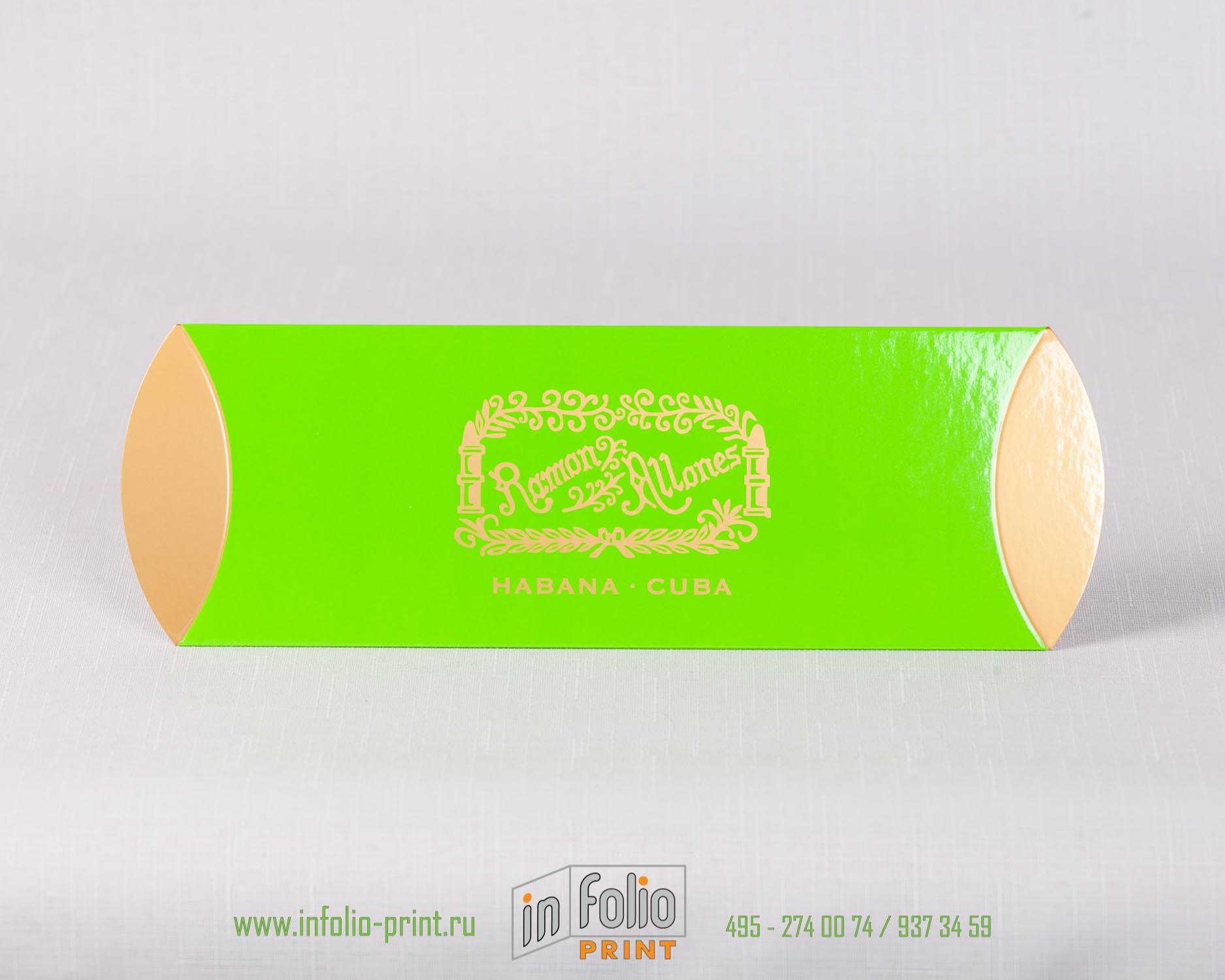 Упаковка пирожок узкая для кубинских сигар