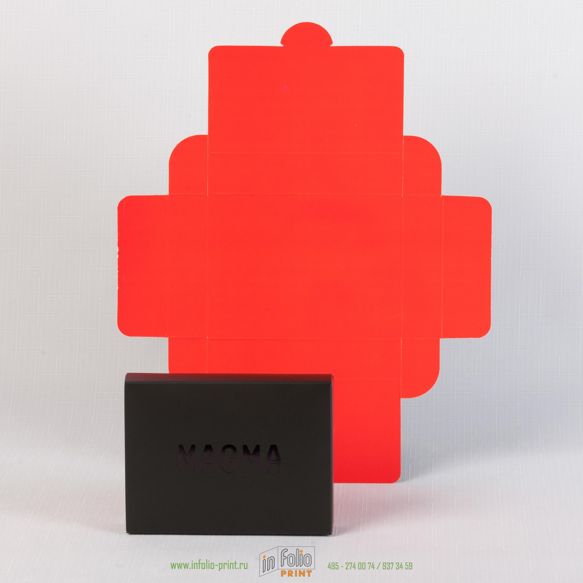 Развертка самосборной коробки 140х90х25