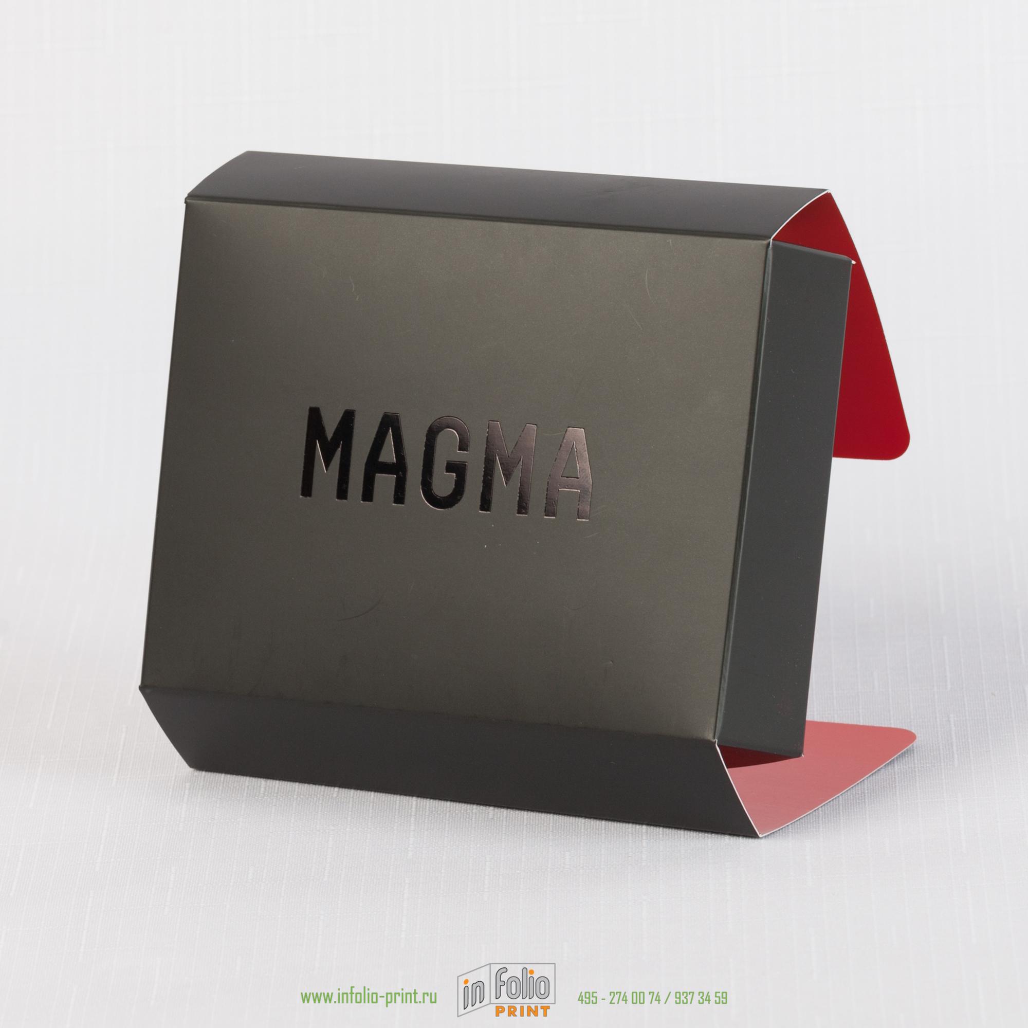 коробка с матовой ламинацией и тиснением фольгой