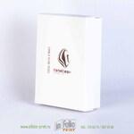 коробка крышка-дно с тиснением серебром