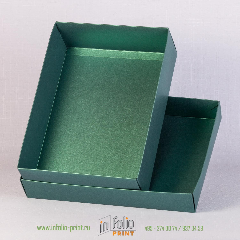 коробька крышка дно из зеленного маджестика