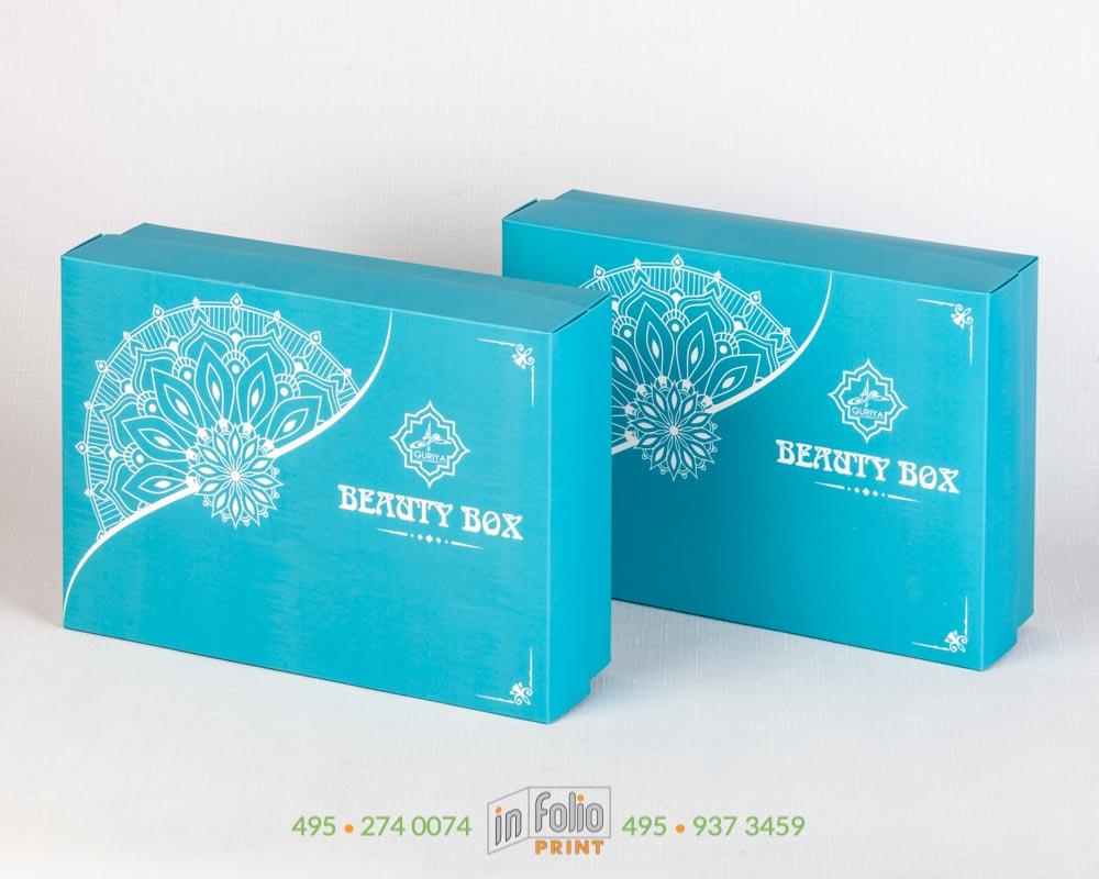 Подарочная коробка с зщитным матовым покрытием