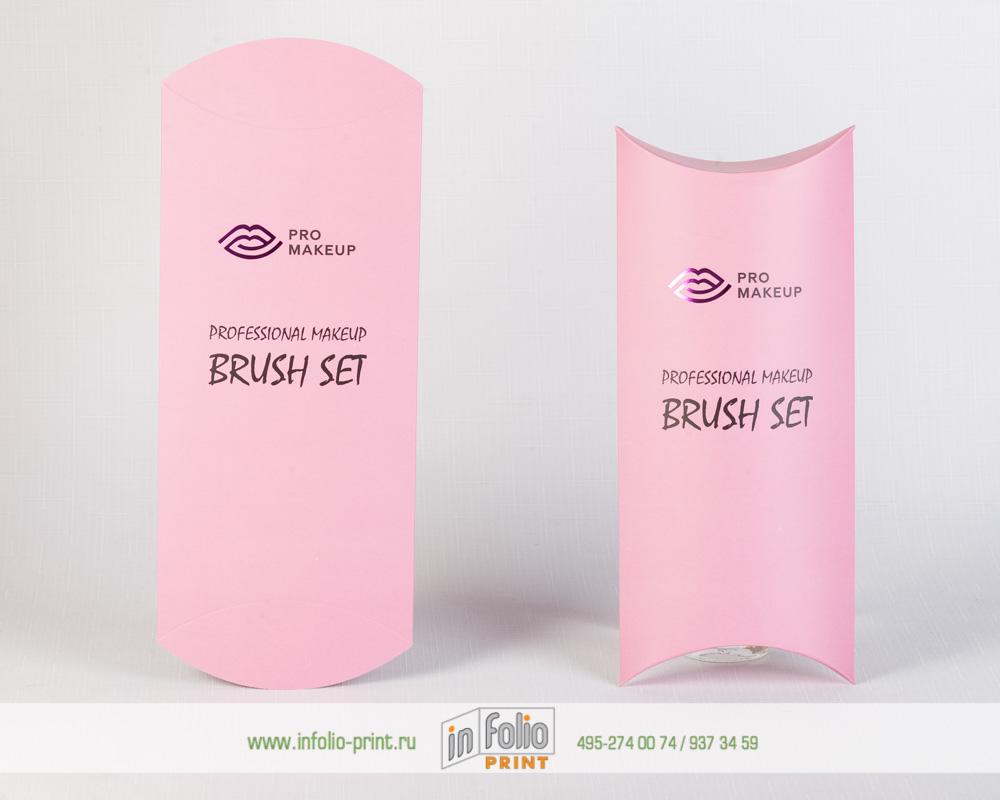 Нежно-розовая упаовка с тиснением фольгой