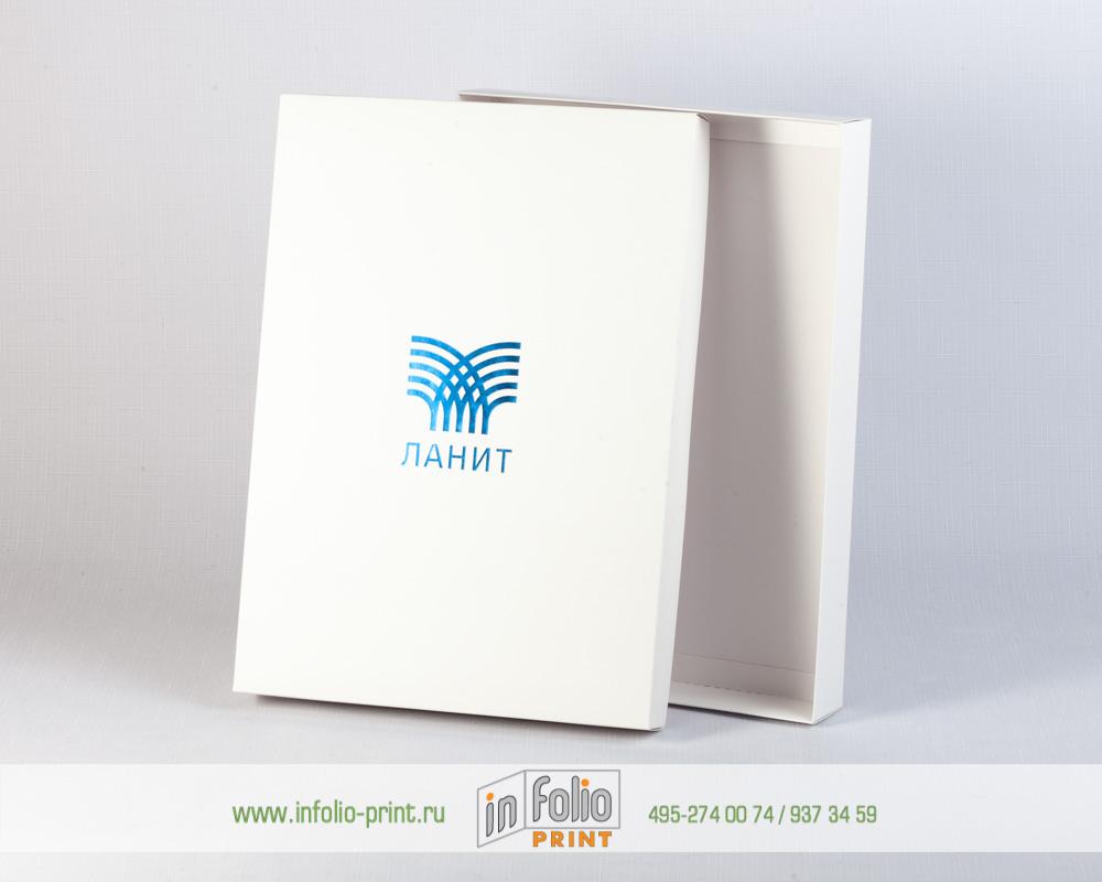 коробка крышка-дно А4 с тиснением фольгой