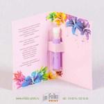 Упаковка для пробников ламинированная розовая